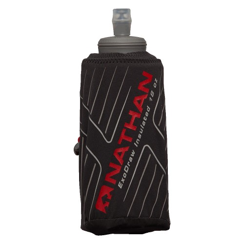 Nathan ExoDraw 2 Insulate 18oz Unisex Black/High Risk Red