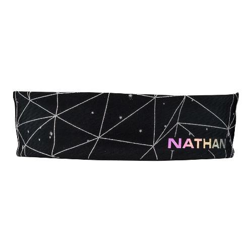 Nathan HyperNight Reflective Women's Hairband/Galaxy Black