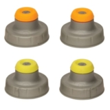 Nathan Push Pull Caps 4-Pack Unisex Silver