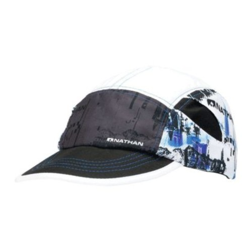 Nathan Quick Stash Run Hat Unisex Black Glitch