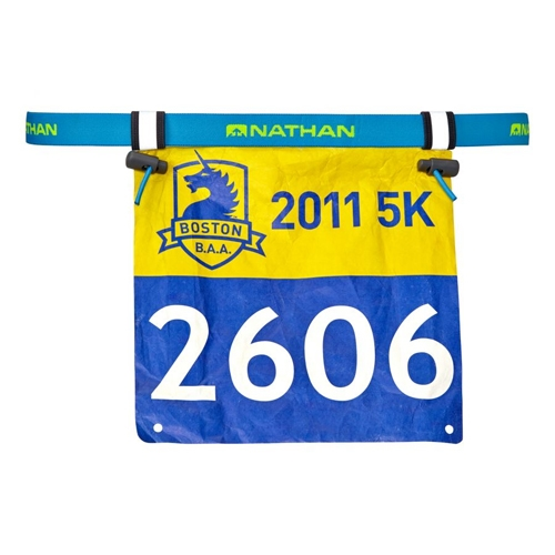 Nathan Race Number Belt Atomic Blue