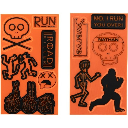 Nathan Reflective Sticker Pack Hi-Viz Orange/Road Killer