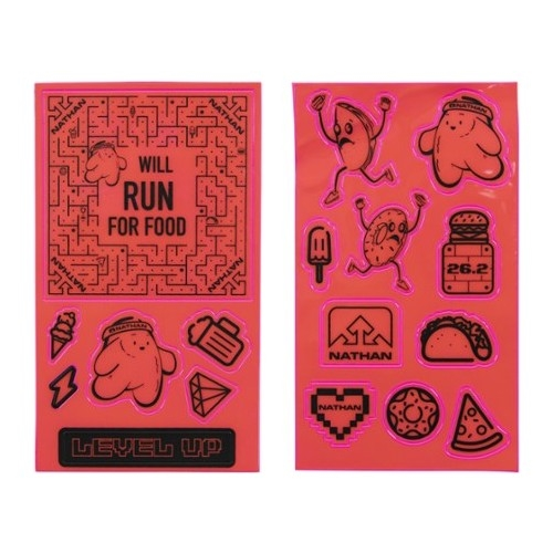 Nathan Reflective Sticker Pack Hi Vis-Pink Will Run For