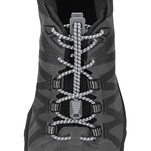 Nathan Run Laces Unisex Reflective Steel Grey
