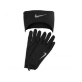 Nike DF Run Headband/Glove Set Women's Black/Silver