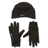 Nike Df Run Beanie/Glove Set Men's Black/Silver