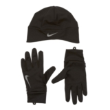 Nike Df Run Beanie/Glove Set Women's Black/Silver