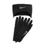 Nike Df Run Headband/Glove Set Men's Black/Silver
