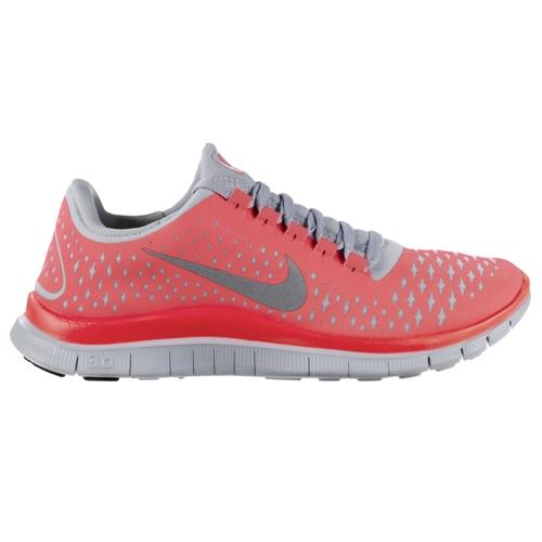 Nike Free Run 3.0 V4 Women's Hot Punch/Silver - Running ... - photo #11
