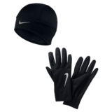 Nike Run Thermal Beanie/Glove Women's Black/Silver