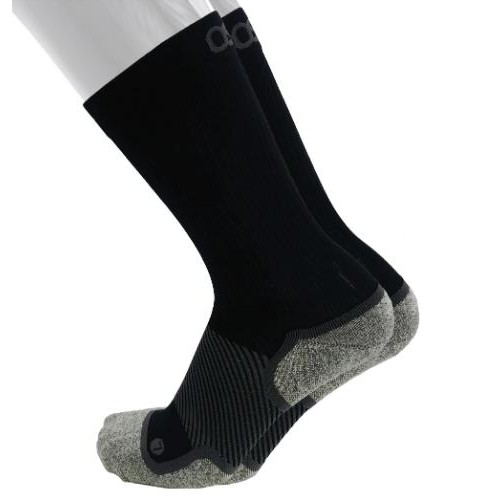 OS1st Wellness Socks Crew Unisex Black