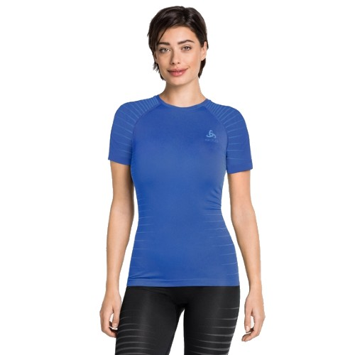 Odlo Base Layer Top Crew Neck Women's Amparo Blue/Marina