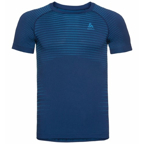 Odlo Base Layer Top Crew Neck Men's Estate Blue/Blue Aster
