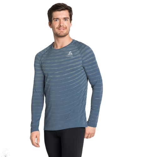 Odlo Blackcomb Pro L/S T-Shirt Men's China Blue/Space Dye