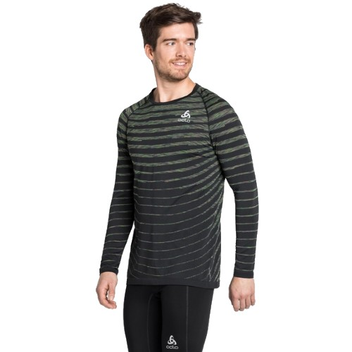 Odlo Blackcomb Pro L/S T-Shirt Men's Black/Space Dye