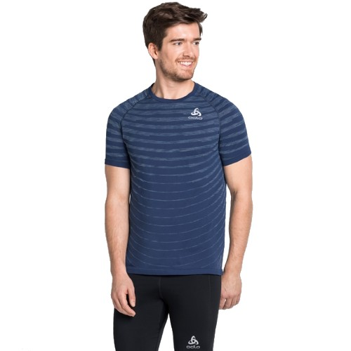 Odlo Blackcomb Pro T-Shirt Men's Estate Blue/Space Dye