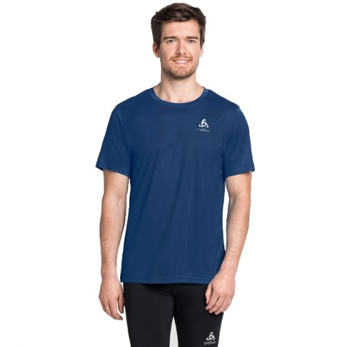 Odlo Ceramicool Element Tee Men's Estate Blue/Blue Aster