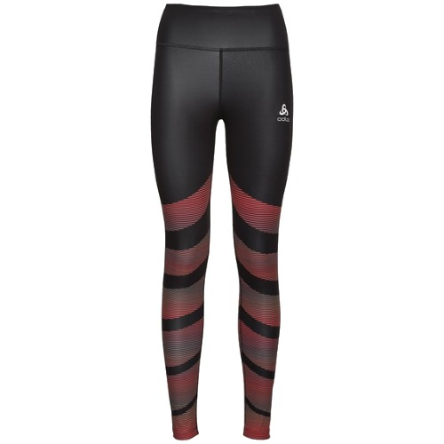 Odlo Zeroweight Running Tights Women's Black/Print
