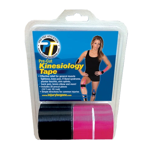 Pro-Tec Kinesiology Tape Pre-Cut Kinesiology Tape Pink