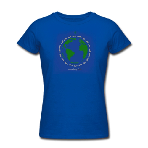 RF Novel Tees Global Run Women's Blue