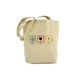 RF Peace Love Run Cotton Bag Bamboo Canadian Made