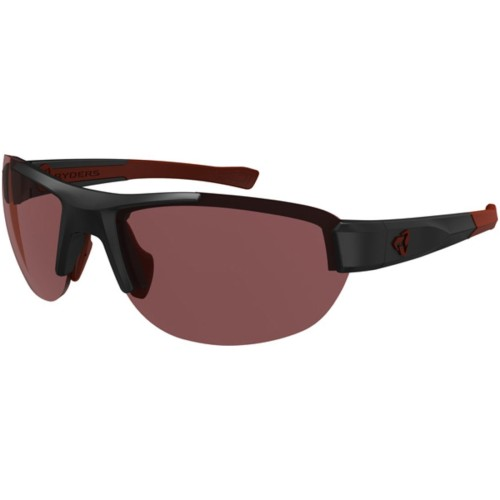 Ryders Crankum Anti-Fog Black-Red/Rose Lens