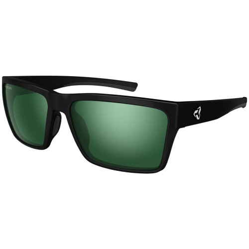 Ryders Nelson Polarized Matte Black/ Green-Silver Lens - Ryders Style # R01304A S21