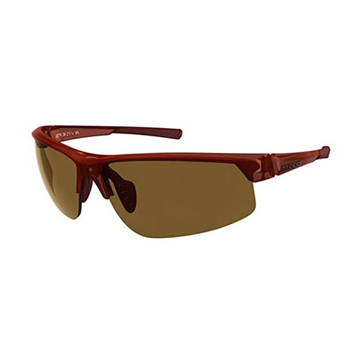 Ryders Saber Dark Red Matte Xtal/Brown Lens
