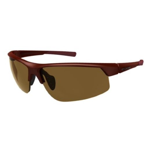 Ryders Saber Photo Matte Dark Red/Brown Lens