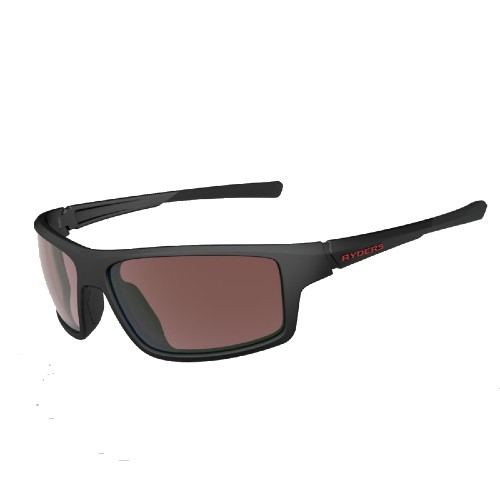 Ryders Strike Matte Black-Red/ Rose Lens