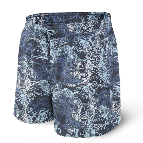 "SAXX Cannonball 2In1 5"" Trunks Men's Blue Great Wave"