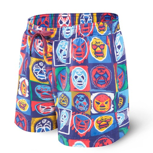 "SAXX Cannonball 2In1 5"" Trunks Men's Navy Lucha Libre"