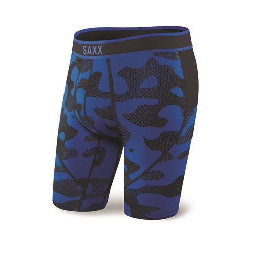 "SAXX Kinetic 9"" Boxer Brief Men's Blue Melt"