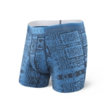 SAXX Quest 2.0 Boxer w/fly Men's Blue Dive Tribe