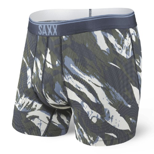 "SAXX Quest 5"" Boxer Brief Fly Men's Navy Mountain Camo"