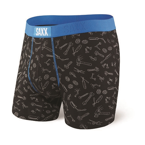 "SAXX Ultra 5"" Boxer Brief Fly Men's Black Toolbox"
