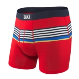 "SAXX Ultra 5"" Boxer Brief Fly Men's Red Regatta Stripe"