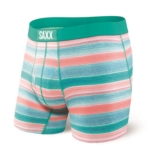"SAXX Ultra 5"" Boxer Brief Fly Men's Blue Crossgrain Stripe"