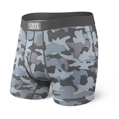 "SAXX Ultra 5"" Boxer Brief Men's Graphite Stencil Camo"