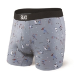 "SAXX Vibe 5"" Boxer Brief Men's Grey Mavericks"