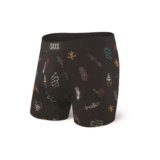 "SAXX Vibe 5"" Boxer Brief Men's Black Mardi Gras"