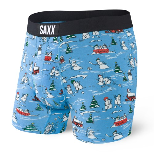 "SAXX Vibe 5"" Boxer Brief Men's Blue Pucking Awesome"