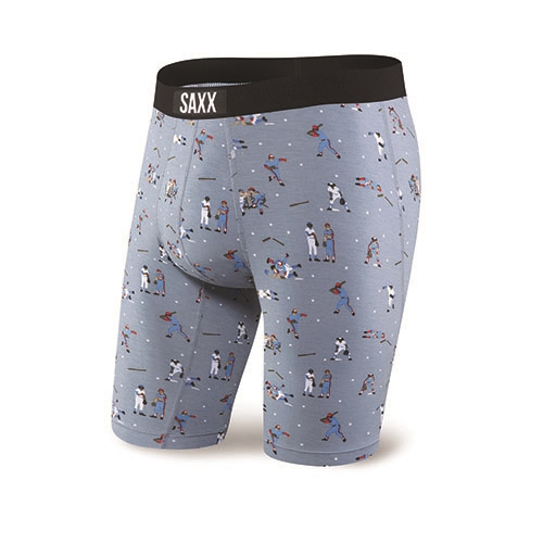 "SAXX Vibe 9"" Boxer Brief Men's Grey Mavricks"
