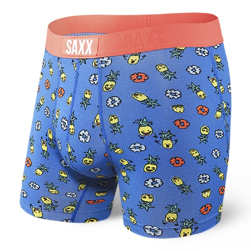 SAXX Vibe Boxer Brief Men's Blue Pinapple Bash