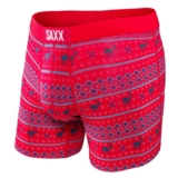 SAXX Vibe Boxer Modern Fit Men's Frost/Red