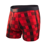 SAXX Vibe Boxer Men's Red Lumberjack Plaid