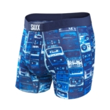 SAXX Vibe Boxer Men's Blue Mixed Tape
