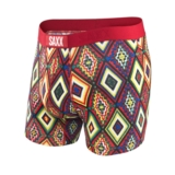SAXX Vibe Boxer Men's Deep Red New Navajo