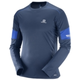 Salomon Agile LS Tee Men's Dress Blue/ Surf the Web