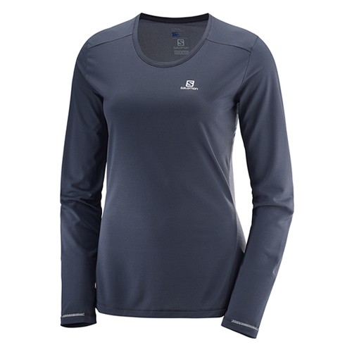 Salomon Agile LS Tee Women's Graphite